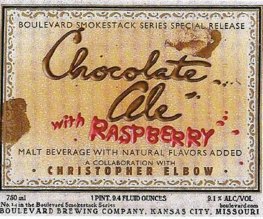 boulevard chocolate ale with raspberries