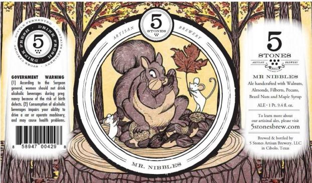 5 Stones Mr Nibbles - TABC Label and Brewery Approvals February 26 2016