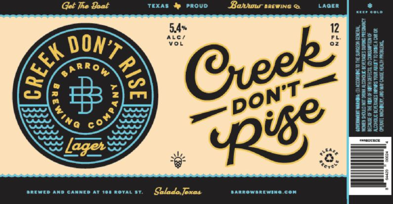 barrow creek dont rise TABC Label and Brewery Approvals Aug 19 2016