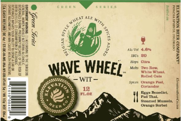 elevation wave wheel TABC Label and Brewery Approvals Aug 19 2016